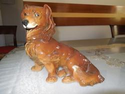 Tacskó porcelán kutya