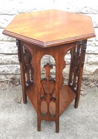 Art Nouveau sculpture pedestal flower stand, beautiful renovated furniture, living room table, art deco
