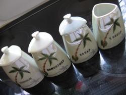 Art deco lüszteres  váza, ceruzatartó, cigaretta kínáló, fűszertartó készlet