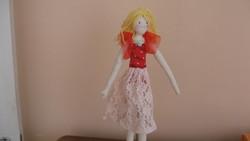 Gyönyörű textil balerina baba , 47 centiméter, kézműves munka
