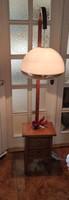 Àlló làmpa, bútor làmpa, Szecessziós Art Deco,Loft, fiókos komód, smizett Alsó rész,fa làmpa