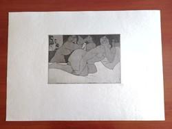Amerigo Tot : Női aktok,  litográfia 1980