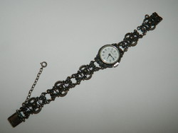 Bergland antique silver watch with silver strap