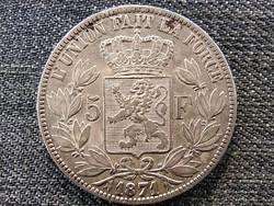 Belgium II. Lipót (1865-1909) .900 ezüst 5 Frank 1871 (id46851)