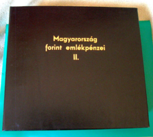 Érmetároló album  - Magyarország forint emlékpénzei II. - aranyozott betű felirattal - használt!