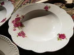 Zsolnay rózsás gyöngyös tányérok