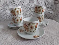 Alföldi jelzett porcelán Icu mintás kávés szettek