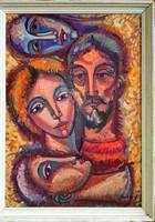 Józsa János Önarckép múzsákkal