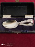Antik ezüst babaetető kanál (925)