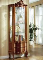 Ívelt üveges Gyönyörű Neobarokk Vitrin/Tálaló. Ingyen szállítás Pest megyébe!