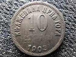 Montenegró I. Miklós (1860-1918) 10 para 1908 (id45507)