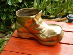 Különleges réz (öntvény) bakancs, cipő, dísztárgy