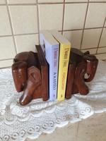 Elefánt könyvtámasz eladó! Állat figurás tömör fa könyvtámasz