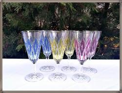 Minőségi színes talpas üveg pohár készlet