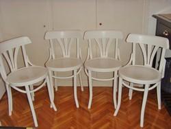 Retro , vintage , fehér , felújított thonet székek , 4 db