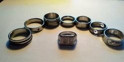 8 db nemes acél gyűrű