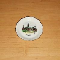 Aquincumi porcelán Győr emlék tál tálka 6  cm (1/p)