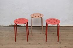 Retró Ikea székek / 3 db szék / stokedli / 90-as évek designer