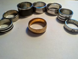 8 db nemesacél gyűrű