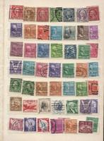50 db usa bélyegek koraiak szép darabok lot Észak Amerikai egyesült államok KIÁRUSÍTÁS 1 forintról