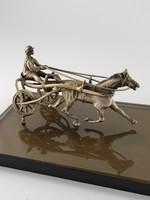 Ezüst lovas lóval csodàs dísztárgy