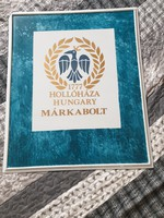 Hollóháza Hungary Márkabolt hidető táblája. Hollóházi porcelán tábla, falidísz eladó!