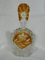 Ólomkristály német metszett konyakosos üveg