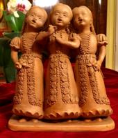 Eschenbach Jenő:Éneklő palóc népviseletes lányok