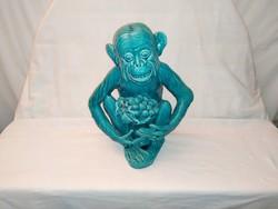 1,-Ft Nagyon ritka Zsolnay alapmázas csimpánz!Nagyméretű!