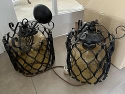 Marokkói mintás kovácsoltvas csillár/falikar