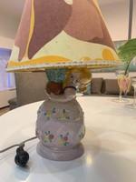 Kerámia kislány asztali lámpa