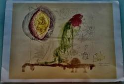 Kondor Béla:A Pokol.H.Bosch után.1963.Ceruza és színes tus,30x43cm.