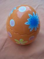 Retro nagyméretű kerámia húsvéti dísztojás bonbonier M. 13 cm  gyönyörű állapotban. dekoratív darab.