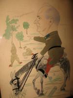 Quality at a gift price! A mockery of Dr. Lieutenant Antal Csányi-vékes 1936 cartoon