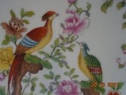 Kézzel festett antik angol fácános nagy falitál 29,8 cm