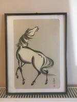 Kínai lovas kép
