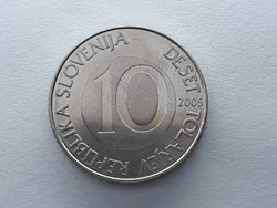 Szlovénia 10 Tolár 2005 - Szlovén 10 tolarjev, tolar 2005 külföldi pénz, érme