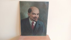 Régi Lenin festmény szignózott!
