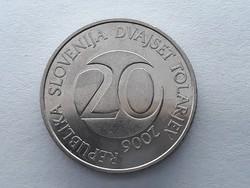Szlovénia 20 Tolár 2006 - Szlovén 20 tolarjev, tolar 2006 külföldi pénz, érme