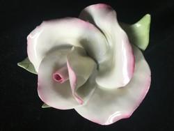 RÓZSA -porcelán-AQINCUM-1.osztályú vitrintárgy