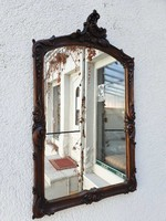 Faragott antik barokk fa tükör
