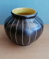"""Dekoratív """"hasas"""" kerámia váza"""