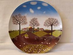 Német márkás porcelán falitányér