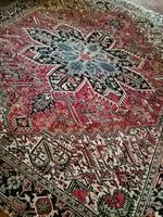 350 x 270 cm antik kézi csomozasu Iráni Heriz perzsa szőnyeg eladó