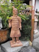 Ritka Kínai Agyag katona Nagy 53cm kő szobor Japán kerti  Kültéri Fagyálló Műkő