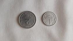 1 és 2 pengős érme