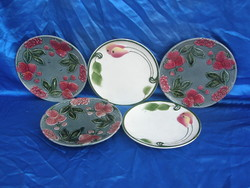 5.db antik majolika fali tányér