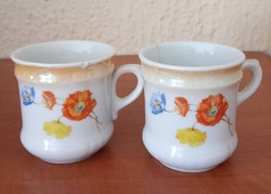 Pipacsos kávéscsészék párban
