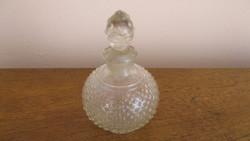 Különleges kölnisüveg , csiszolt dugóval a múlt század 20-as éveiből.