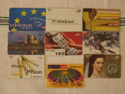 Külföldi telefonkártyák eladók